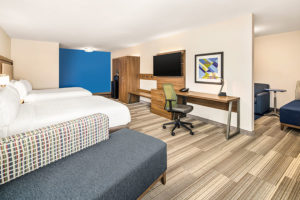 ada accessible suite with two beds and living room